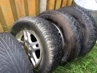 3 x Jeep Grand Cherokee wheels and tyres