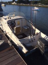 Shetland Fishing Boat with 50hp Outboard - Swap for a quad bike