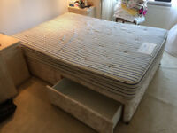 Four draw double bed with Sprung Slumber Orthopedic mattress