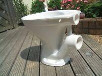Armitage Shanks white ceramic toilet bowl.