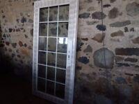 Large White Double Glazed Glass Door