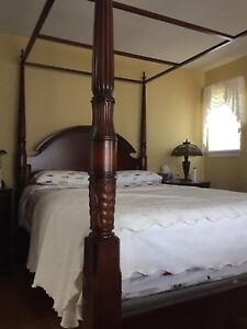 4 poster queen bed set for sale