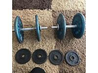 40kg Cast Iron Dumb Bells / Weights