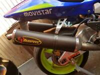 HONDA VTR 1000 SP2 SP1 AKRAPOVIC EXHAUST PIPE END CAN SLIP ON ROAD LEGAL RACE TRACK