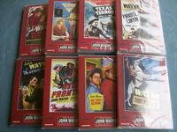JOHN WAYNE (8) JOHN WAYNE WESTERNS DVDS NEW AND SEALED PAL REG 2