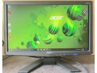 Acer x193HQ 19 inch Widescreen LCD TFT 5ms Flat Screen LCD monitor