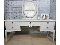 Gorgeous vintage Stag Minstrel 5 drawer dressing table with mirror