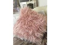 Large dusty pink cushion cover including cushion
