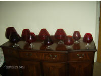 RED GLASS GOBLETS