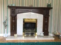 Fireplace and surround in excellent condition.