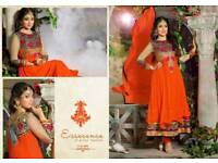 Asian/indian designer long semi stitched anarnkali style kurta chudidar