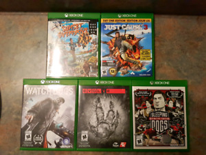 Xbox one games for sale $10 ea ch or all 5 for $40