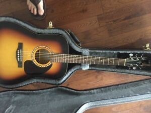 Simon & Patrick LUTHER acoustic guitar with Hard case