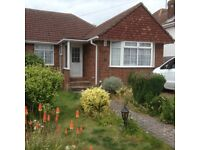Spacious semi detached three bedroom chalet style bungalow in popular North Lancing area