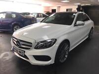 "Mercedes-Benz C Class 2.1 C220d AMG Line (Premium) 4dr (start/stop) 19"" ALLOYS PANORAMIC ROOF"