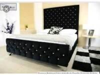 Diamanté double bed with mattress