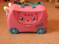 Trunki - Moshi Monsters Pink Ride on Case - Excellent Condition