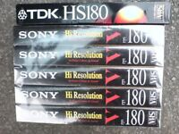 6 NEW SEALED VHS TAPES