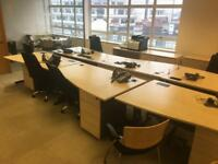OFFICE CLEARANCE - 10 desks, chairs, cupboards, tables, shredder, etc