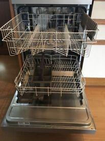 Beko silver dishwasher, VGC only 6 months old