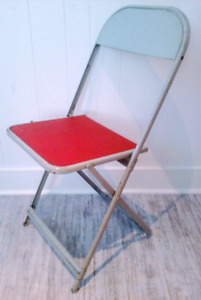 7 Vintage COOEY Folding METAL CHAIRS Antique