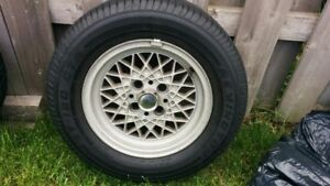 """13"""" OEM BMW BBS MAHLE WHEELS AND TIRES"""