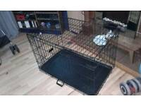 Large 2 door dog cage / crate with a carrying handle
