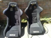 Sparco Evo Seats and Luke Harnesses ideal for track car