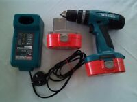MAKITA 18V DRILL, CHARGER + SPARE BATTERY