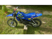 2006 YAMAHA PW80 WITH GRAPHICS, MICHELIN MX TYRES AND REAR LIFT KIT