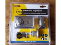 Yale Traditional Nightlatch - Chrome. Brand New