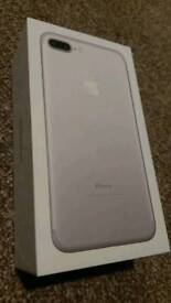IPHONE 7 PLUS 32GB SILVER UNLOCKED BRAND NEW *NO OFFERS* - may consider part exchange or swap