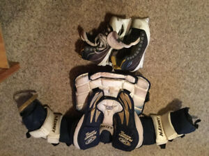 Goalie chest protector and skates