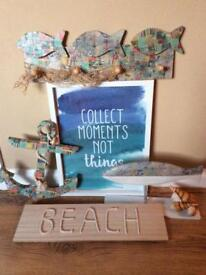 Beach themed bathroom/ outhouse accessories