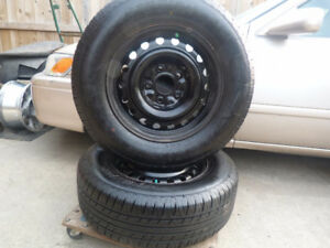 2 235/65R16 All Season Tire on steel rims with TPMS
