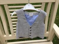 New 9-12 months mama and papas waistcoat