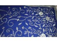 Sari. silver threadwork. Blouse is a size 12/14. Sari is free size.