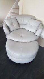 Brand new & Unused Large Swivel Chair with Footstool