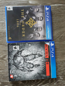 The order 1886 , Evolve ps4 games