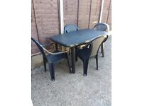 Patio table & chairs