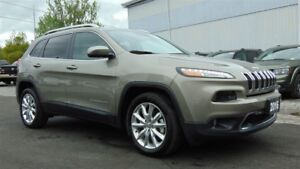 2016 Jeep Cherokee LIMITED - NAV - LEATHER - SAFETYTEC - 6,300 K