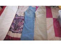 2 x size 30W reg trousers. 1 x Timberland unworn and 1 standard jeans tesco