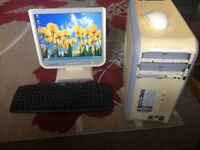 Desktop Compupter plus Keyboard/Mouse & Monitor