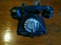 ANTIQUE GPO 312L BAKELITE ROTARY TELEPHONE (1940s)