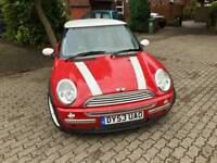 2003 Mini Cooper Red, 2 keepers,miles 60k, 116BHP, Full leather, can deliverFull leather