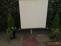 Projector Screen - Hanimex Portable