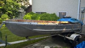 12' Peterborough Aluminium boat with 7.5HP Johnson outboard