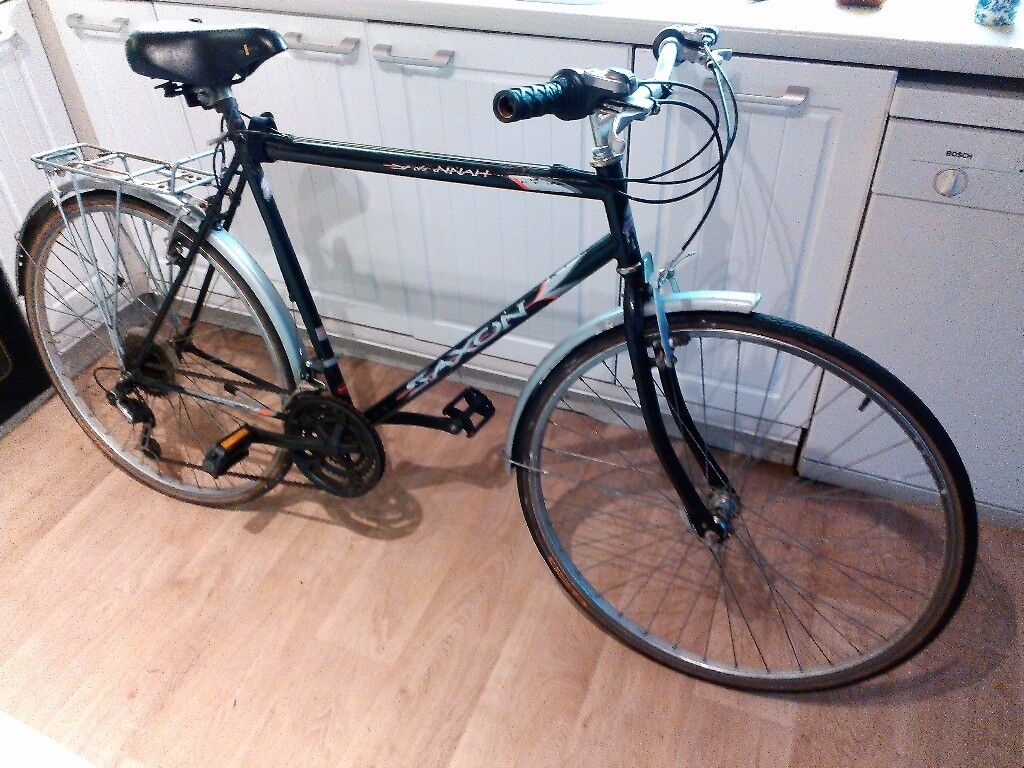 Saxon Savanna Hybrid bike, cheap pub or work commuter bikein Barrhead, GlasgowGumtree - Offering my old hybrid bike that I have owned for at least 12 years. Been replaced with a newer model and too may bikes in the shed. I have pumped up the tyres and it rides OK. Always had a back wheel wobble, still usable, see YouTube video of both...