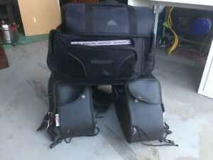 Motorcycle saddlebags & back seat bag