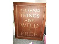 Wooden signage for sale